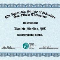Membro della Società Americana dei Terapisti di Spalla e Gomito